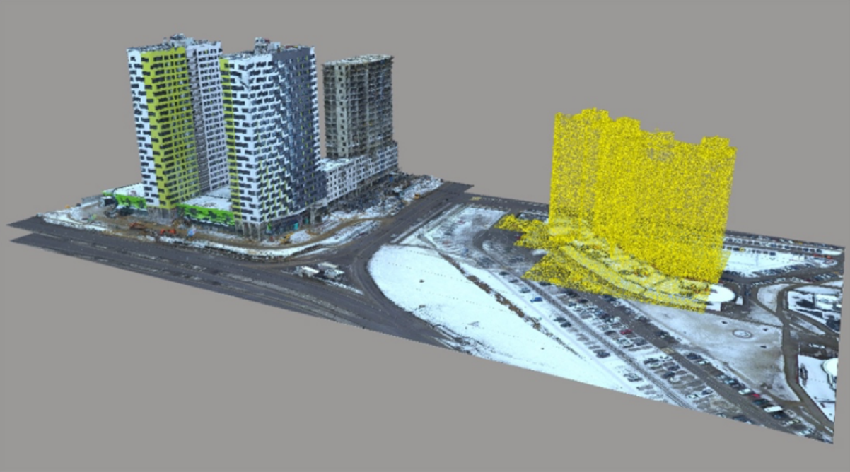 Building a 3D model of urban environment using a series of aerial photographs